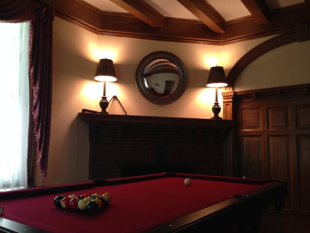 Providence Treatment Tour sober living house pool table
